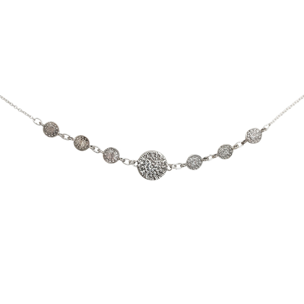 Silver coin choker - Fine chain choker with coin details - Stevie Jean