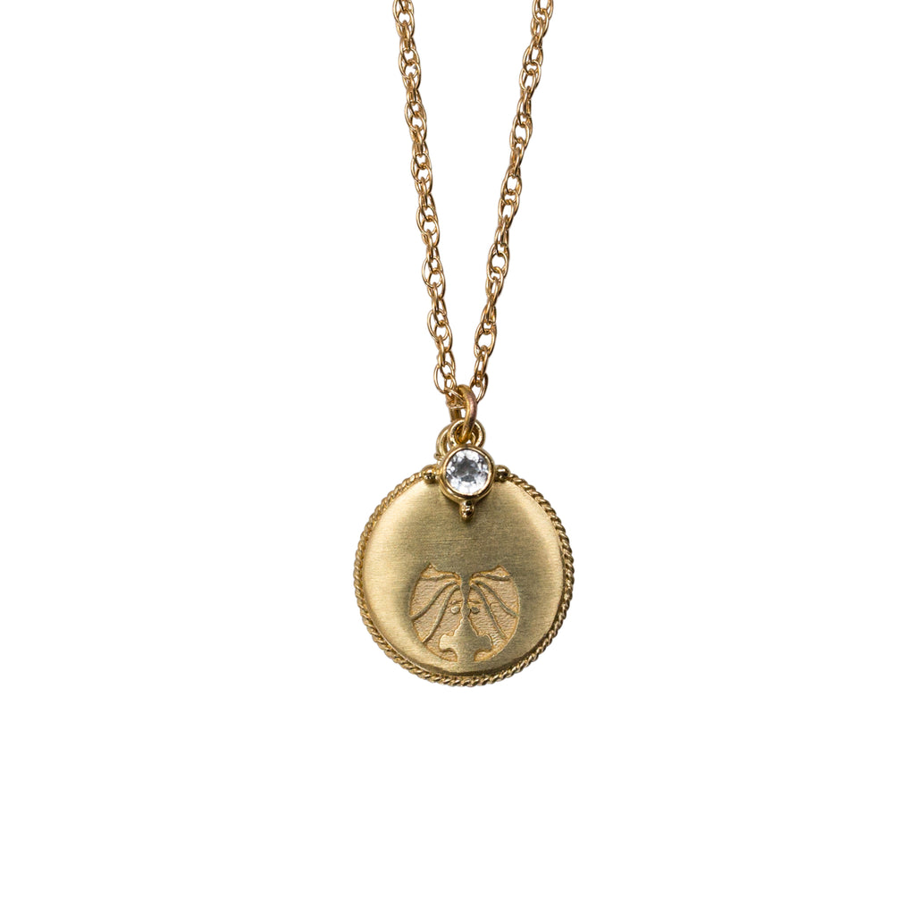Stardust Gemini Necklace Gold