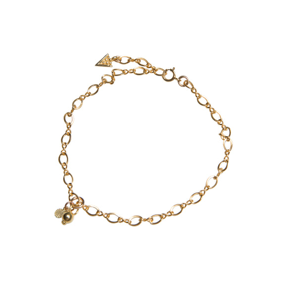 gold chain bracelet from he golden years collection by wild heart jewellery