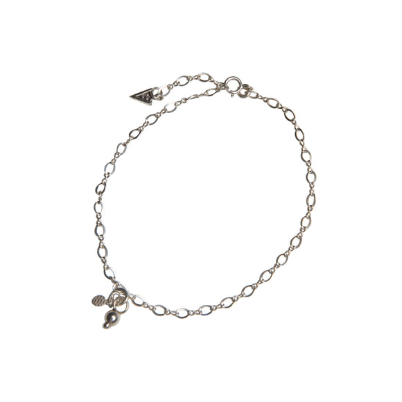 Silver fame anklet made with sterling silver chain in the golden years collection by wild heart jewellery