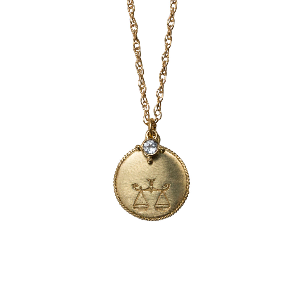 Stardust Libra Necklace Gold