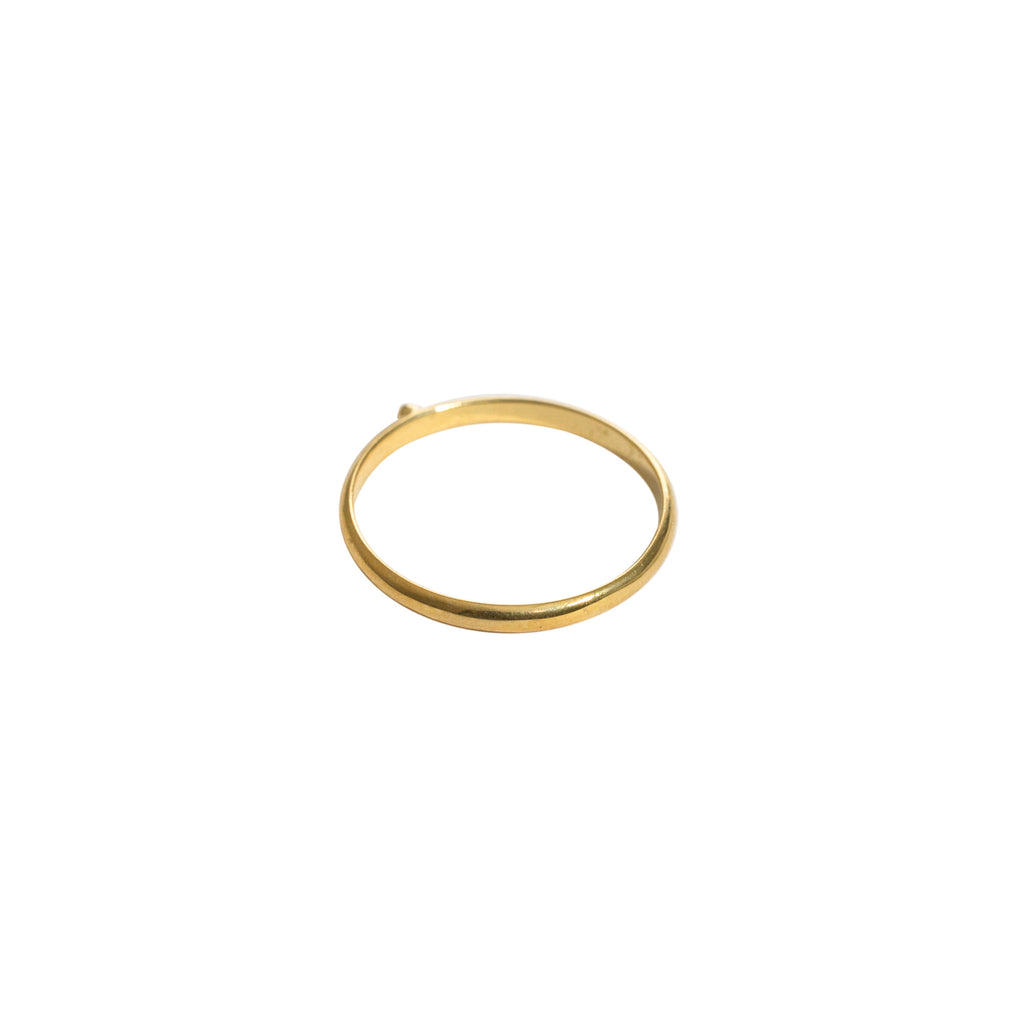 fine gold ring with ball detail by wild heart jewellery
