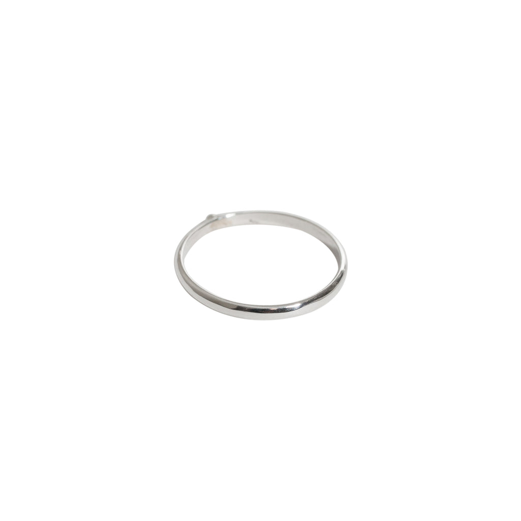 fine sterling silver ring with ball detail by wild heart jewellery
