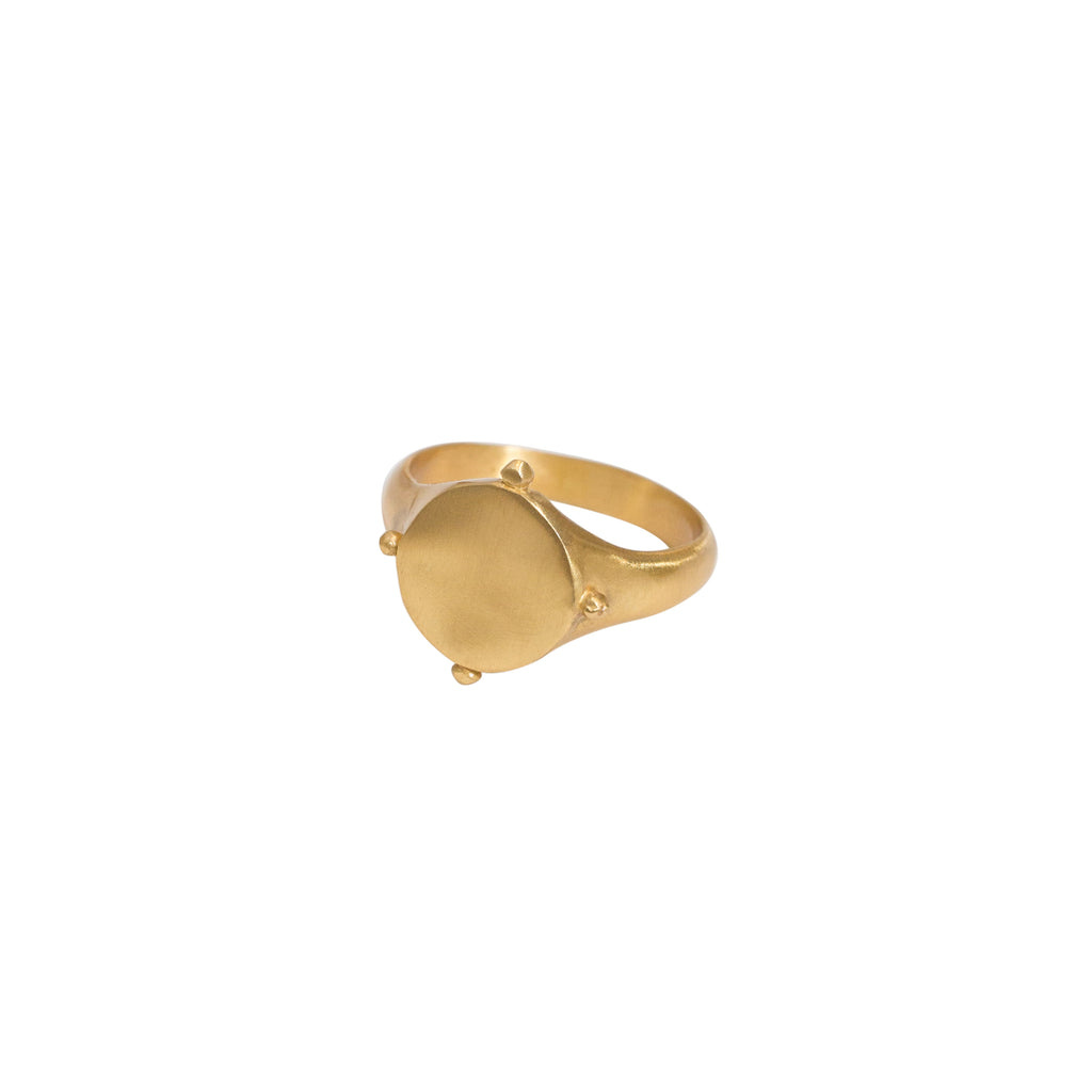 Gold Signet Ring | Sterling Silver with 14k Gold Vermeil Ring | Stevie Jean Jewellery