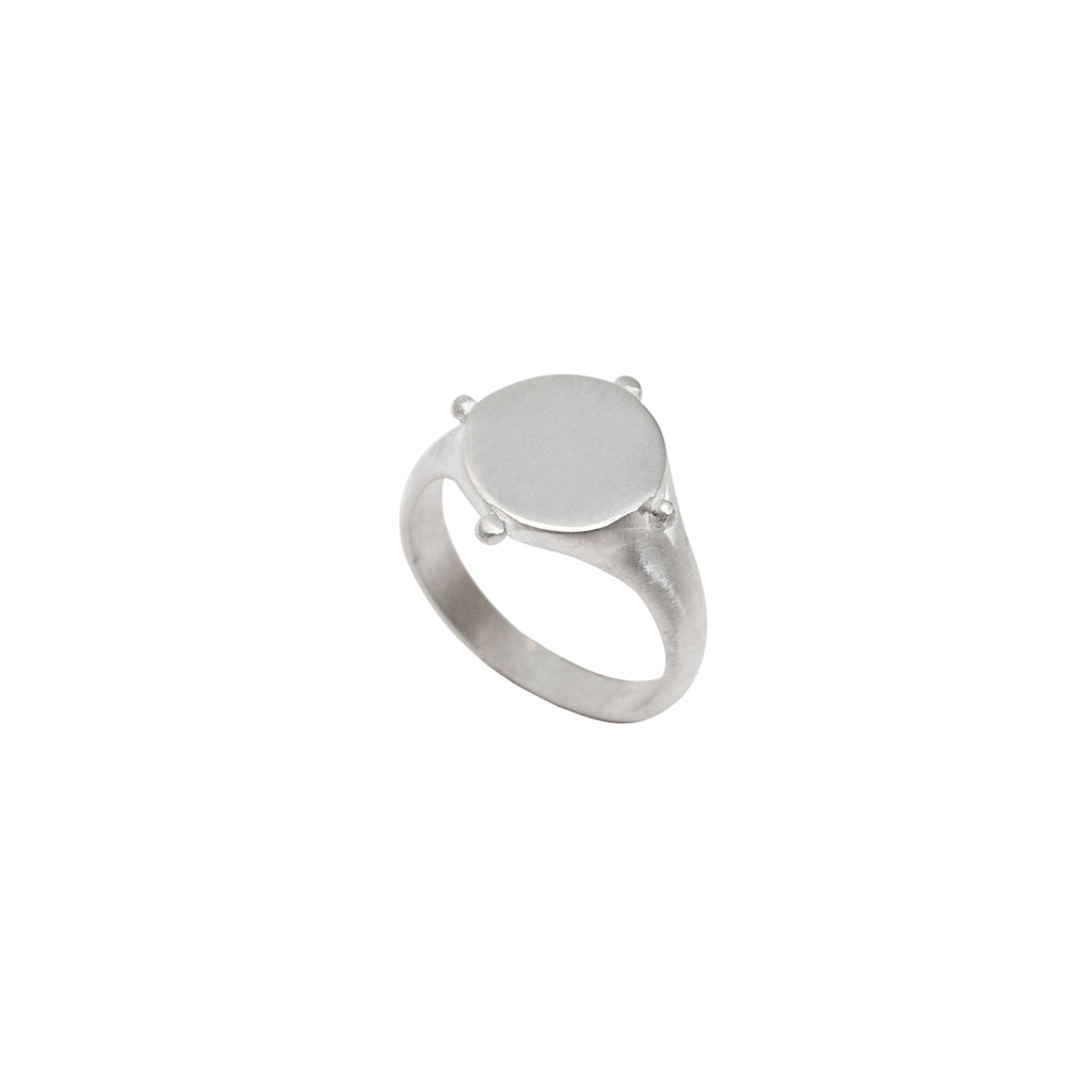 Silver signet ring for women - Stevie Jean Jewellery