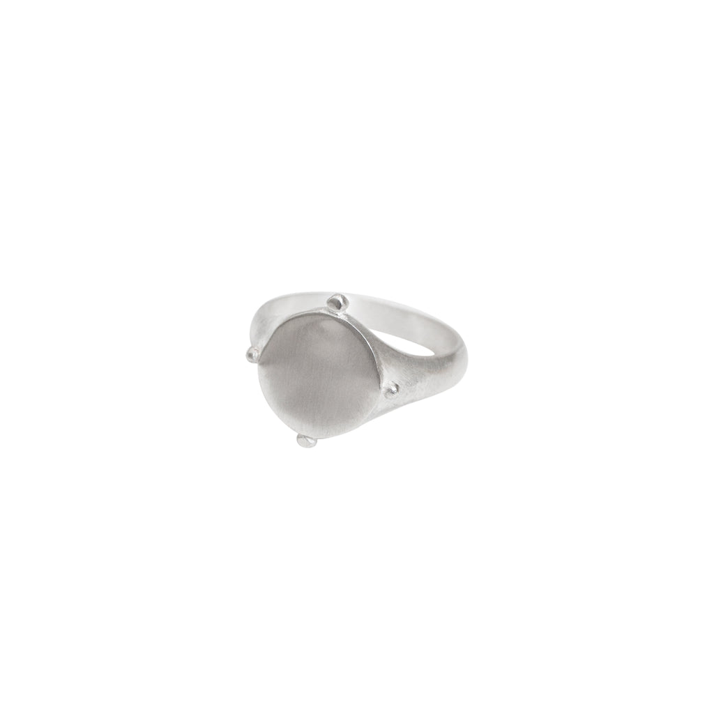Lucia Signet Ring Silver