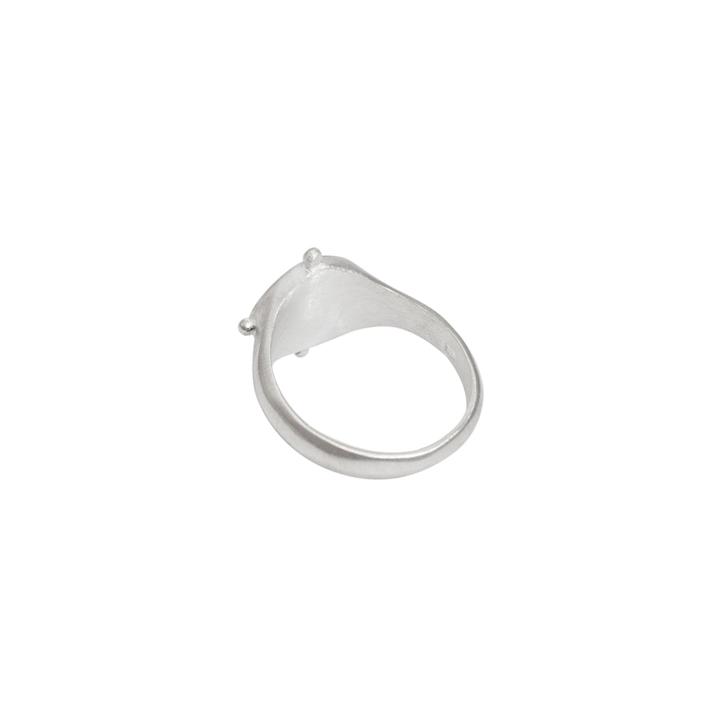Silver signet ring for women - Stevie Jean Jewellery 1