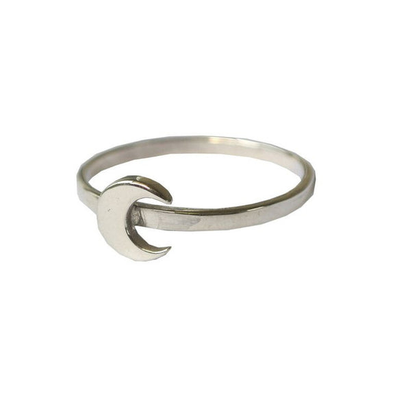 sterling silver fine moon ring by wild heart jewellery