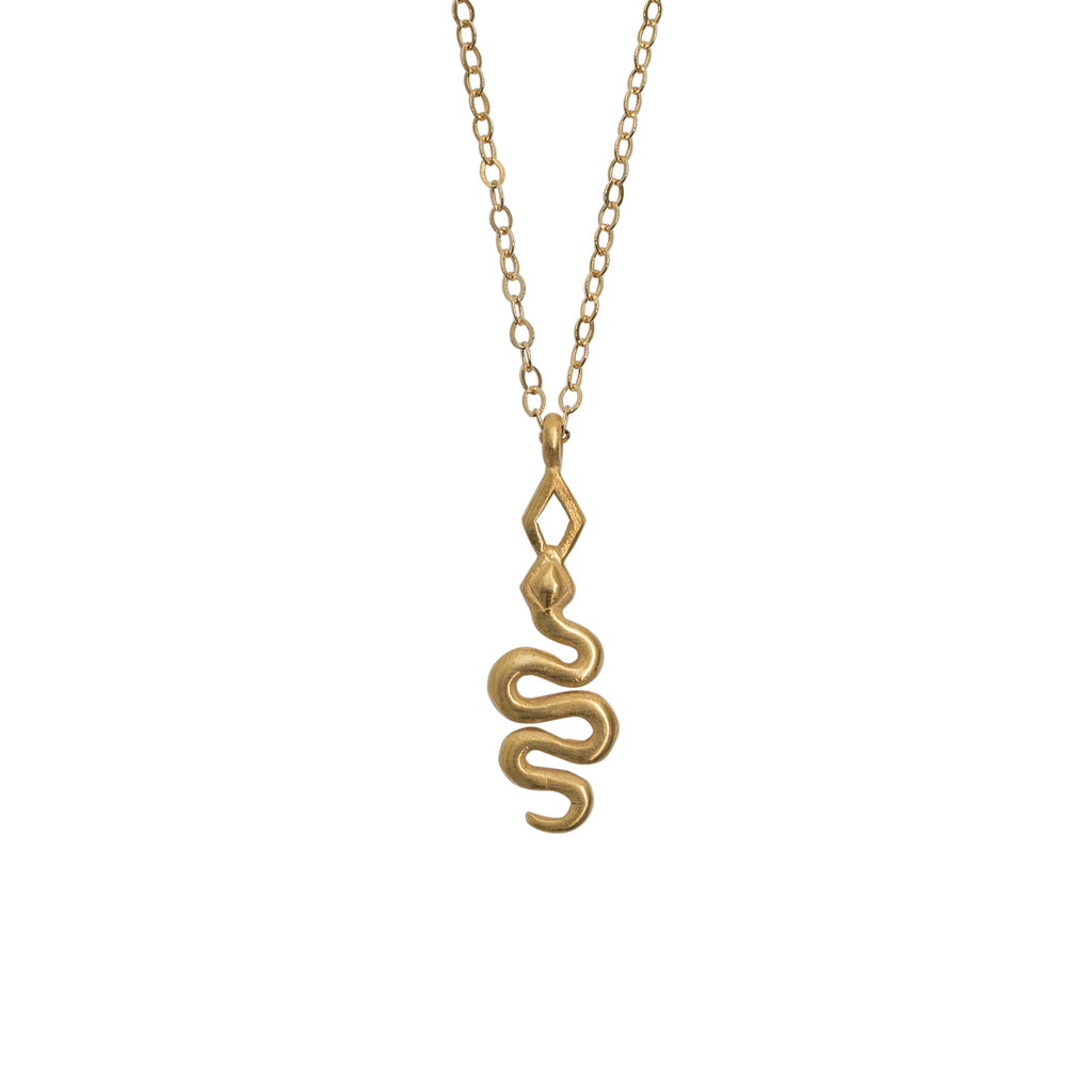 gold fill snake necklace by stevie jean jewellery