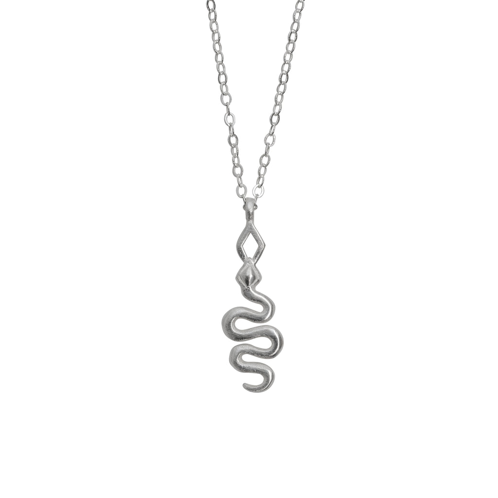 sterling silve snake necklace by stevie jean jewellery