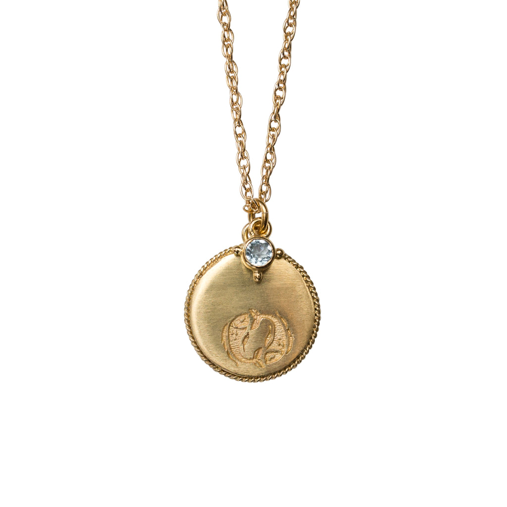 Stardust Pisces Necklace Gold