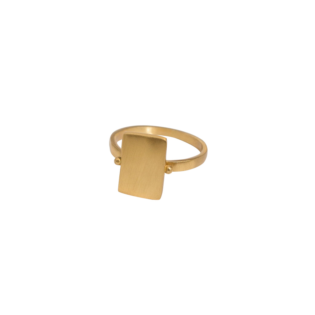 Statement gold ring - brushed finish gold ring - Stevie Jean Jewellery