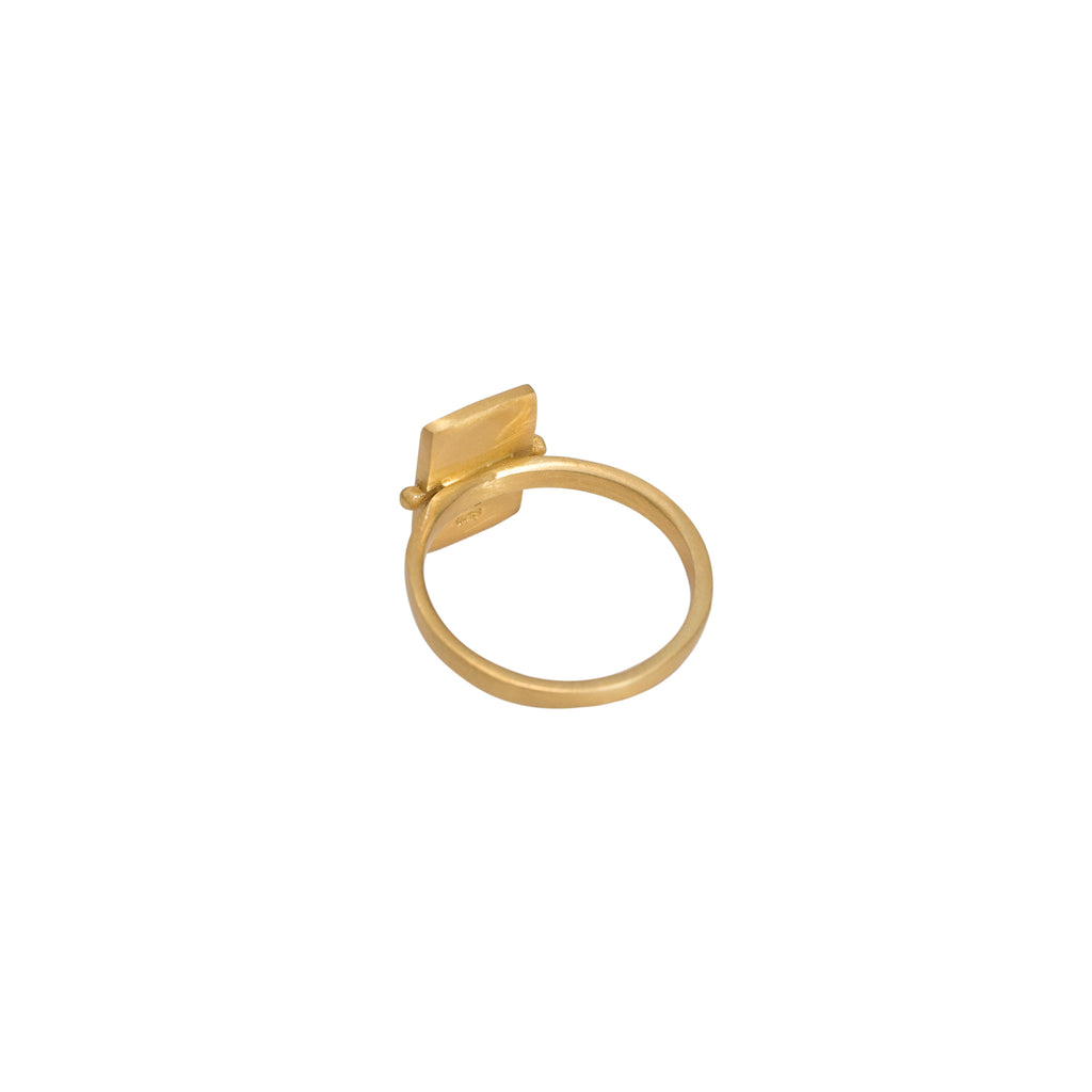Statement gold ring - brushed finish gold ring - Stevie Jean Jewellery 2