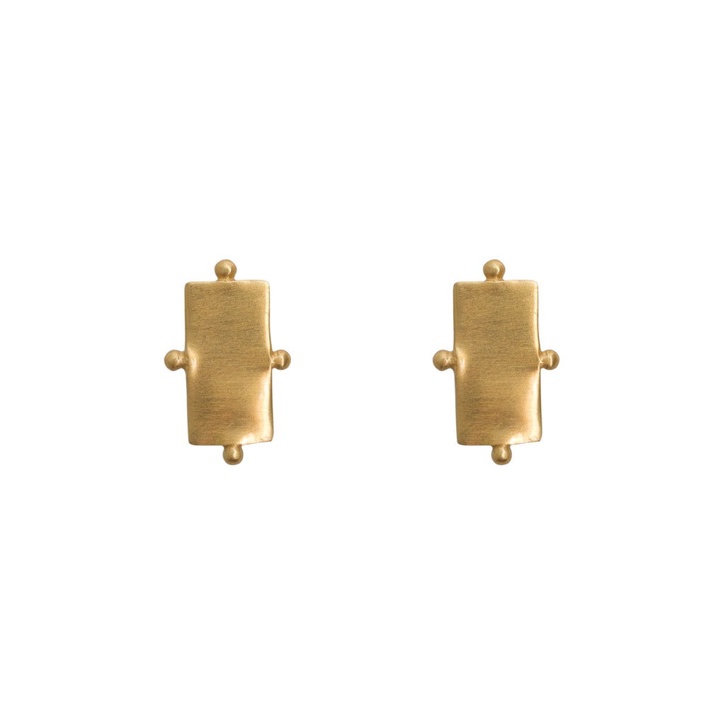 Gold studs with ball detailing - Stevie Jean Jewellery
