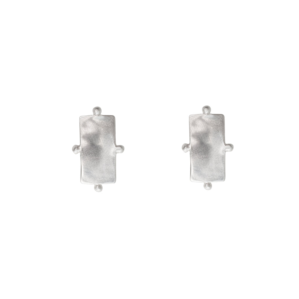 Statement sterling silver studs with ball detailing - Stevie Jean Jewellery