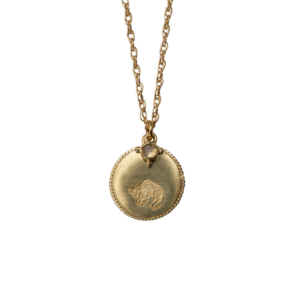 Stardust Taurus Necklace Gold