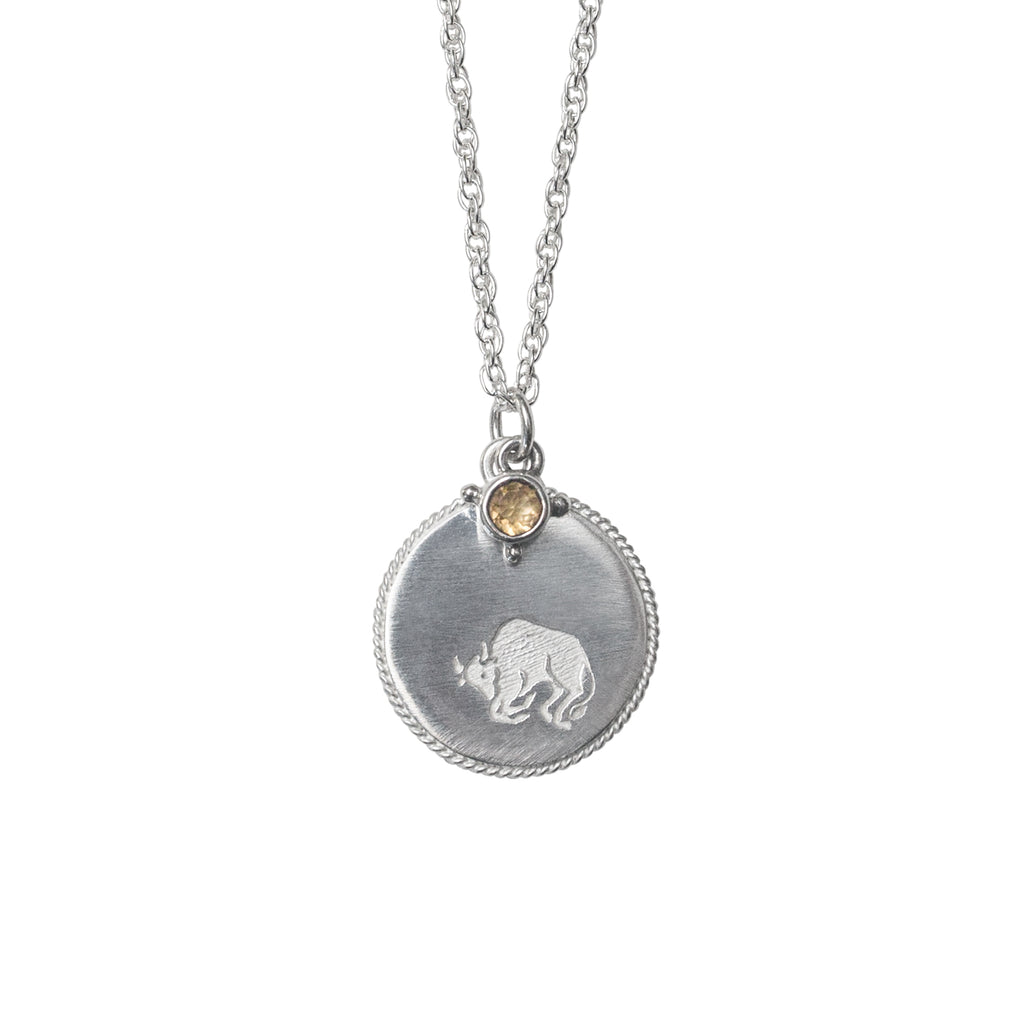 Stardust Taurus Necklace Silver