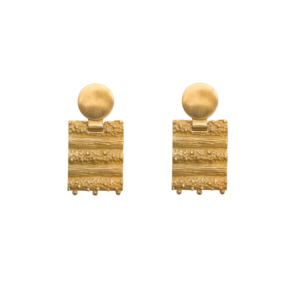 Gold drop earrings - Dune Collection - Stevie Jean Jewellery