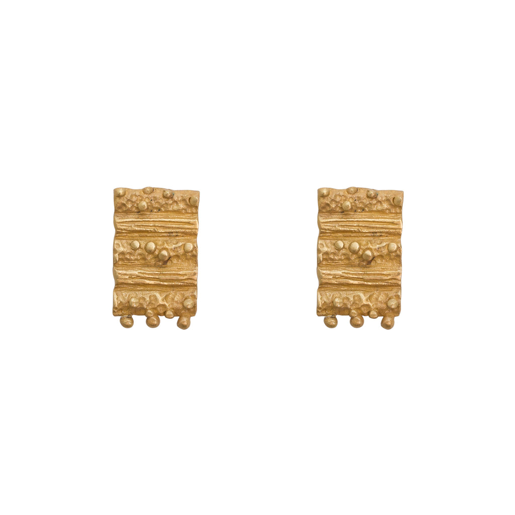 Tides mini stud earrings - gold studs - Stevie Jean Jewellery