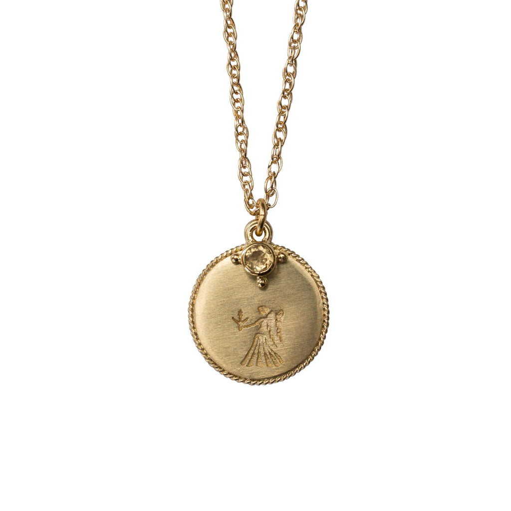 Stardust Virgo Necklace Gold