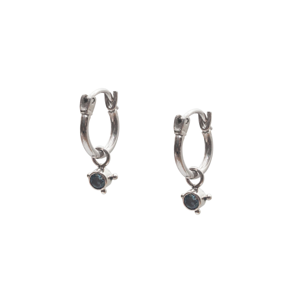 Stardust Element Hoops Water Silver