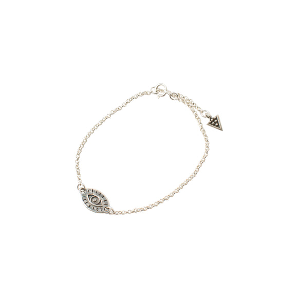 sterling silver chain bracelet with all seeing eye charm