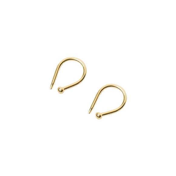 gold lover to lover earrings by wild heart jewellery
