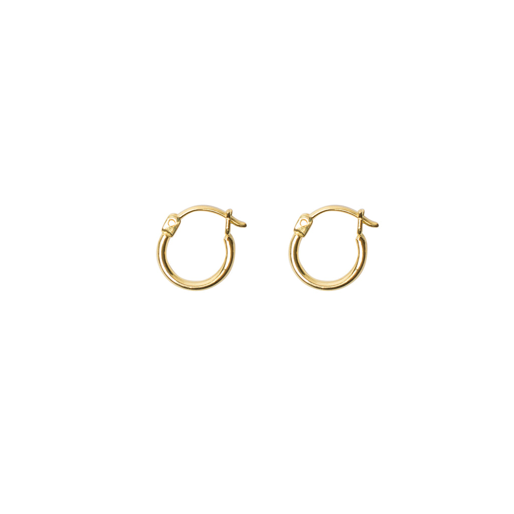 Gold-hoop-earrings small-hoop-earrings gold-earrings Golden-Years Wild-Heart-Jewellery
