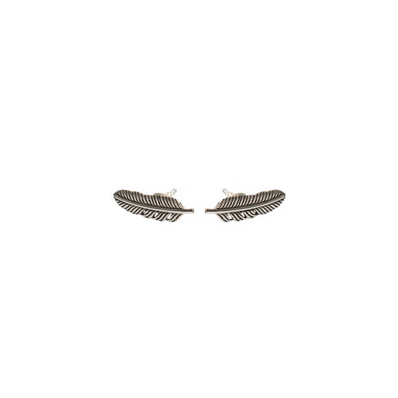 sterling-silver-studs feather-earrings silver-studs silver-earrings wild-heart-jewellery