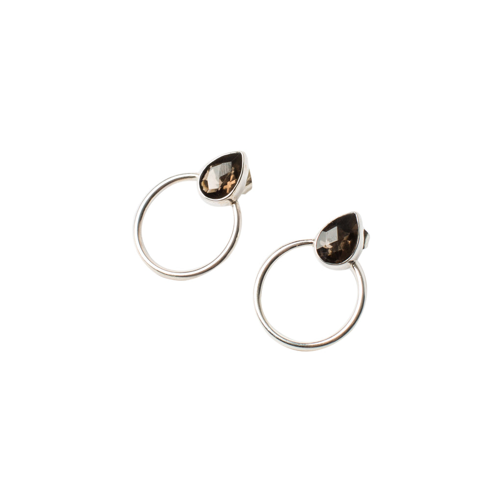 You-Send-Me-Silver-Studs Sterling-Silver Smokey-Quartz Earrings Into-The-Mystic-Collection Wild-Heart-Jewellery