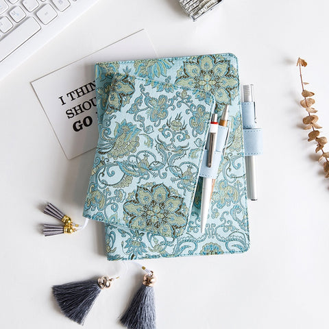 Hobonichi Techo Inspired Floral Notebook Cover