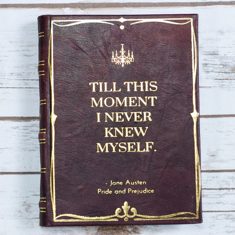 Vintage Jane Austen Pride & Prejudice Handmade Leather Journal