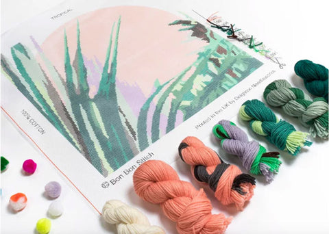 Bon bon Stitch - needlepoint kit
