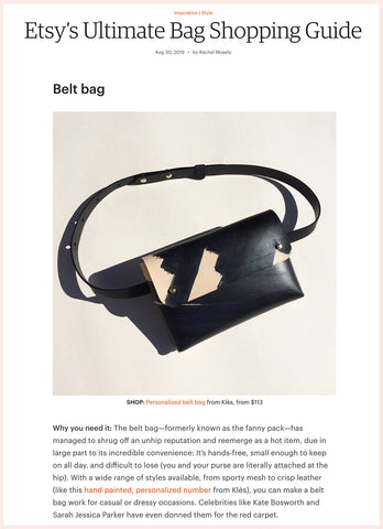 "Etsy blog article ""Etsy's Ultimate Bag Shopping Guide"""