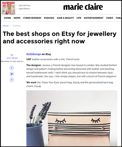 Marie Claire - The best shops on Etsy for accessories