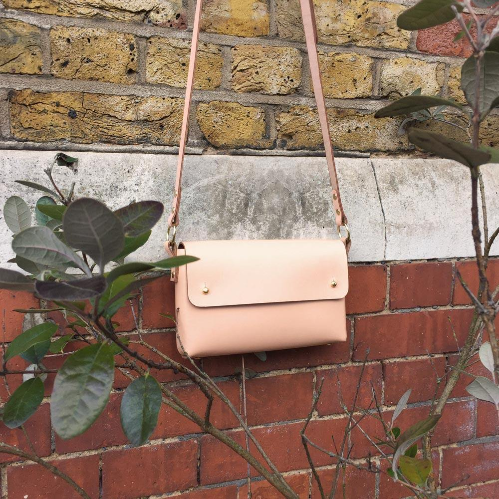 Pink cross-body bag