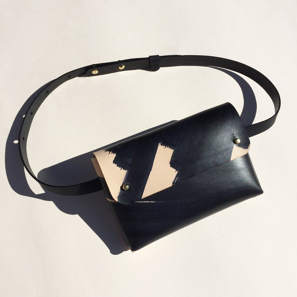 SOPHIA Handmade Belt Bag - Ink Brushed