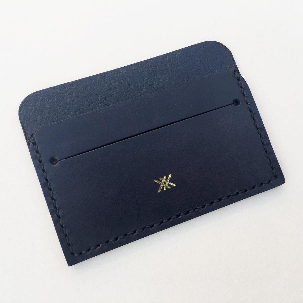 MIKA leather card holder - Matte Black