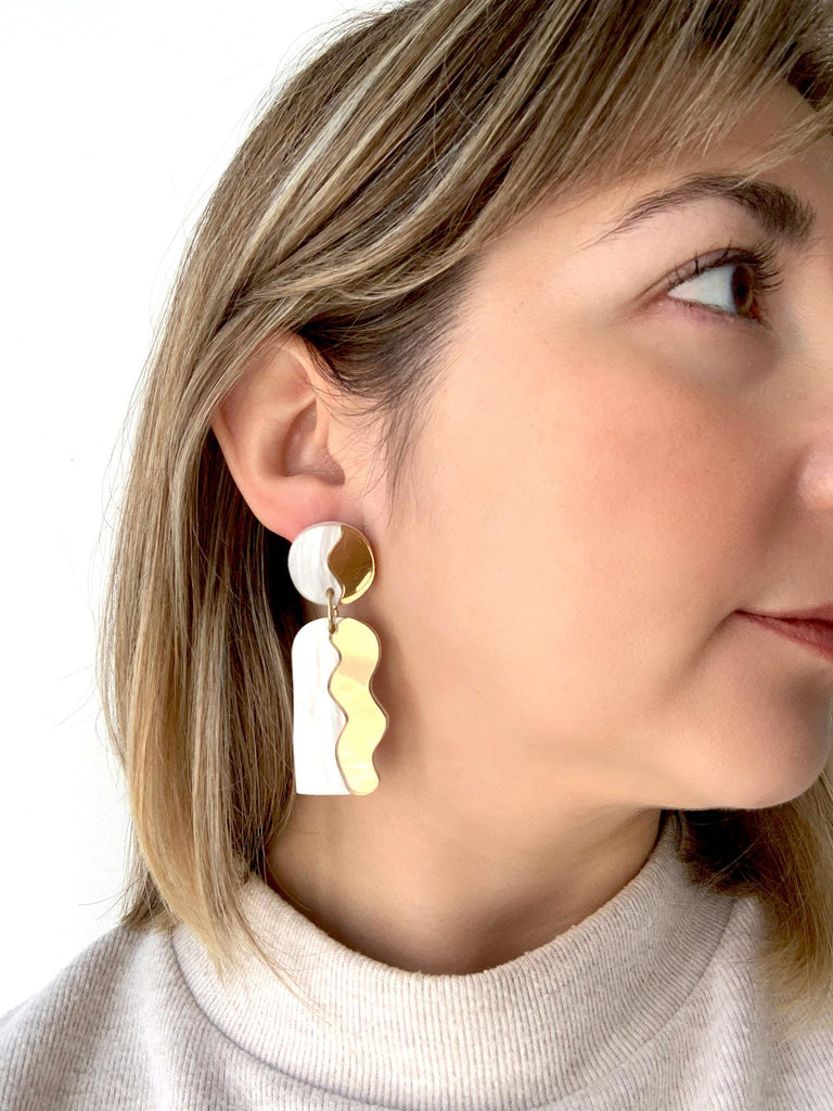 CALATA statement earrings on mo