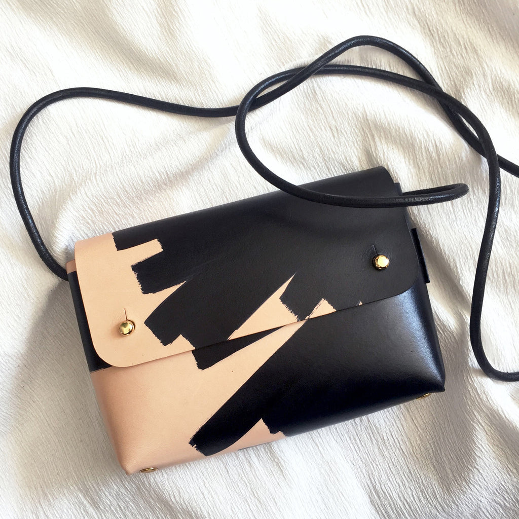 OANA hand-painted mini bag - Ink Brushed