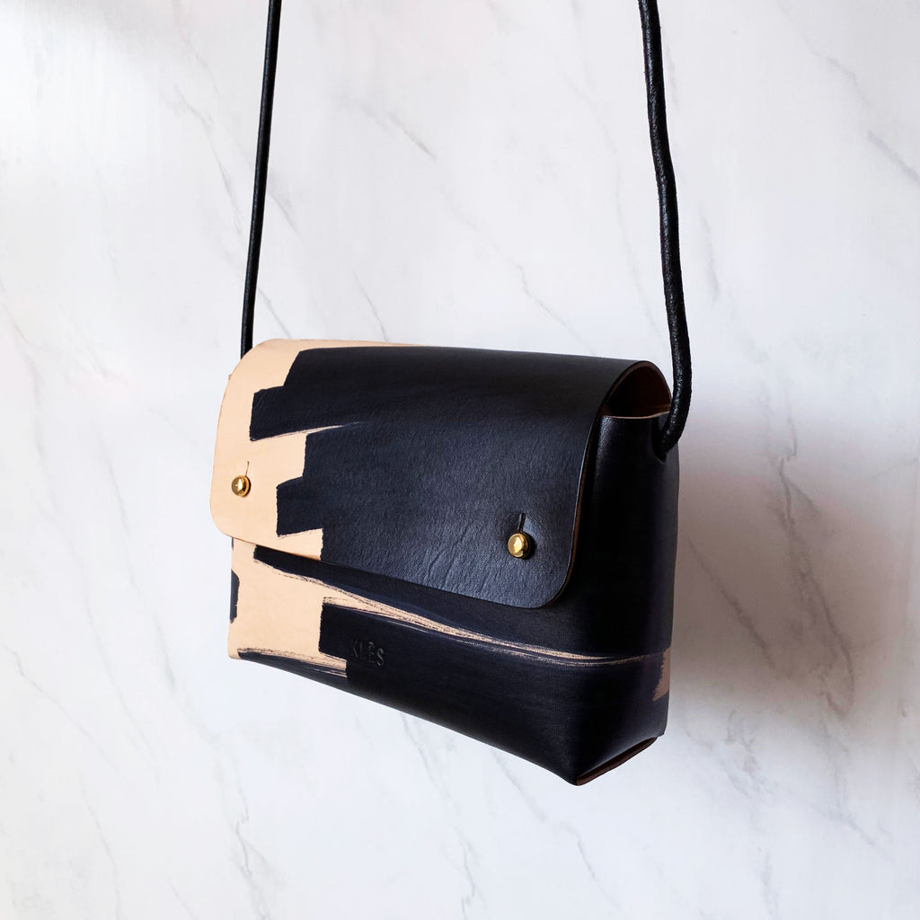 Leather micro bag