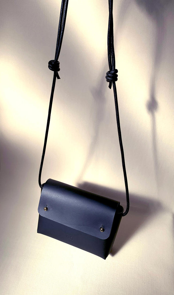 Matte black mini bag
