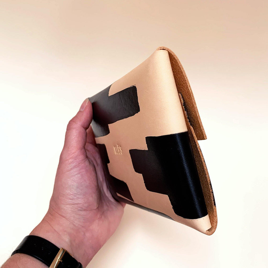 pouch in hand - back and side view