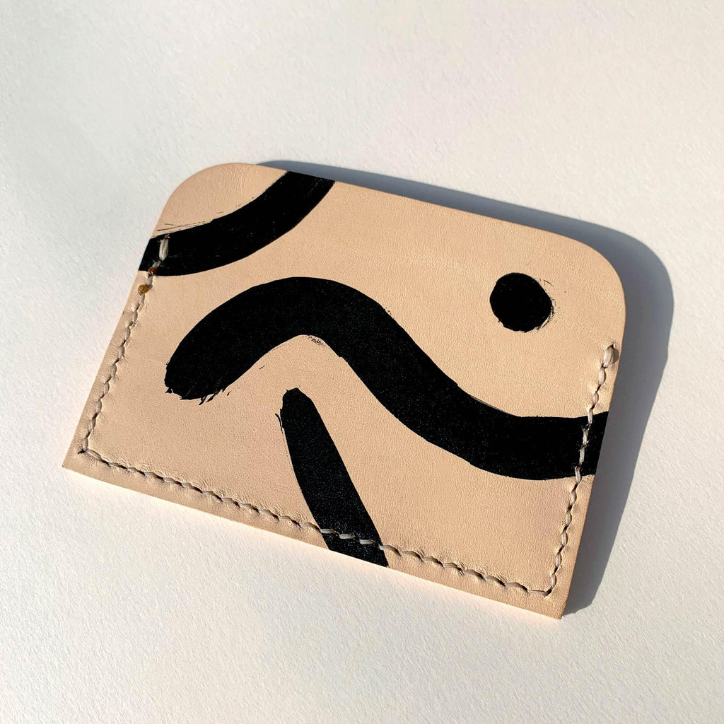 Patterned card holder - back view