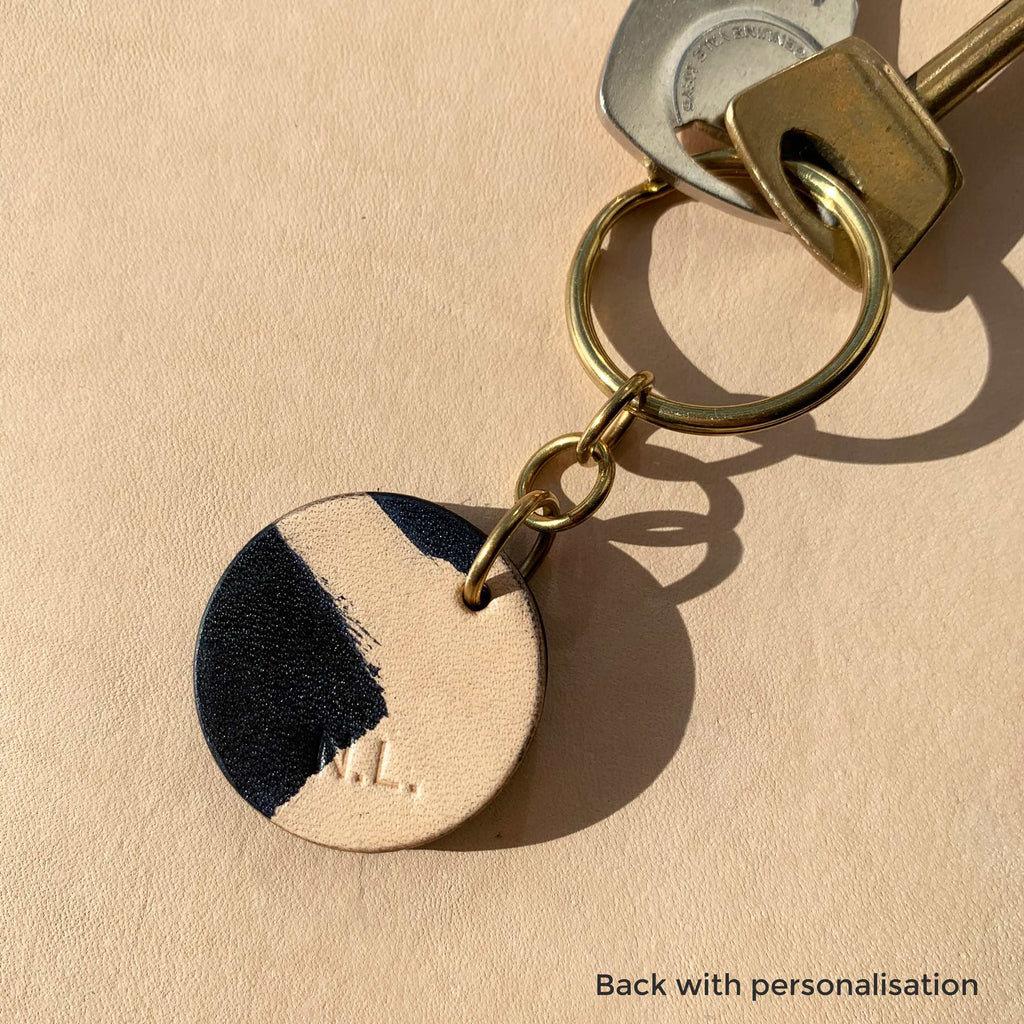 ONRA - hand-painted leather keyring