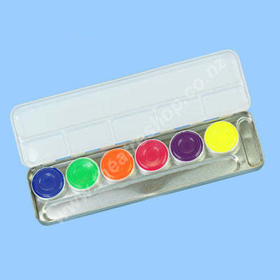 Aquacolor Palette <br>6-Colours UV-Dayglow
