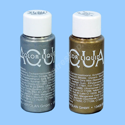 Aquacolor Liquid 30ml <br>Metallic Colours