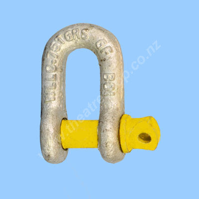 D Shackles Hi Load <br>Yellow Pin