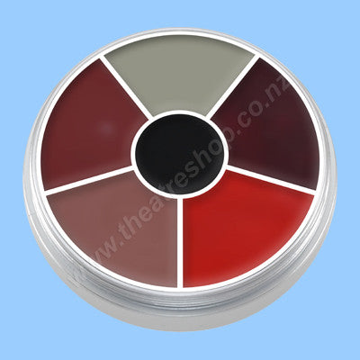 Kryolan Cream Colour Circle Burns & Injury Wheel