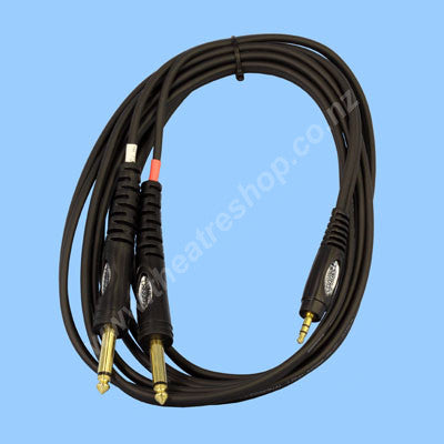Mini-jack Cable <br>3.5mm to 6.5mm Jacks